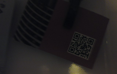 Picture of a QR code in poor light