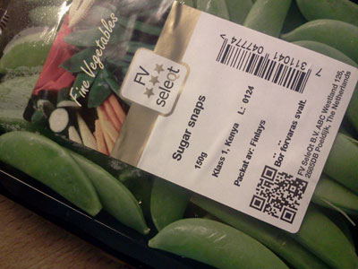 FV Seleqt Sugar Snaps with QR code