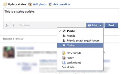 What gets shown in Facebook's Ticker?